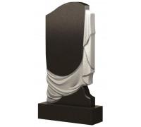 Гранитный памятник Большой портрет с плащаницей ts0491