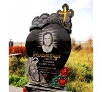 Памятник в форме сердца с ангелом ts0315