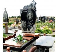 Памятник эксклюзивный в форме сердца с крестом и ангелом ts0140