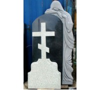 Памятник вертикальный со Скорбящей матерью и Крестом