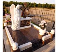 Памятник эксклюзивный с крестом и ангелом ts0241