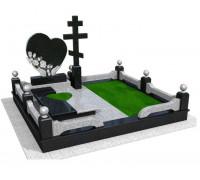 Мемориальный комплекс Сердце и Крест в 3D формате ts0516