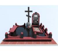 Православный мемориальный комплекс на могилу в 3D формате ts0512