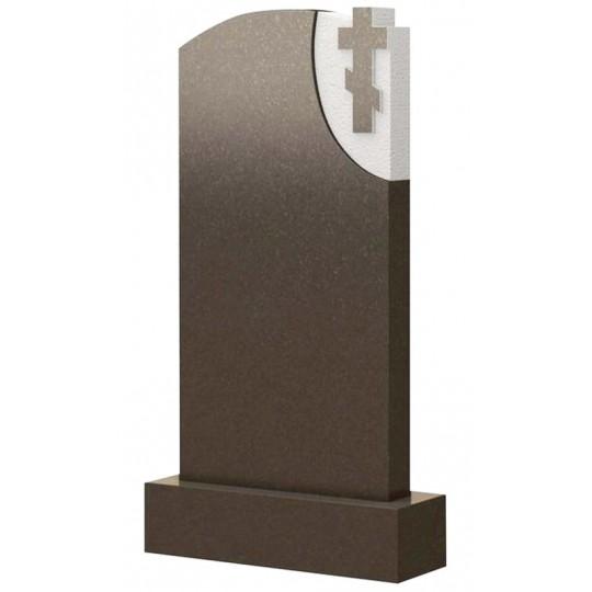 Вертикальный гранитный памятник с крестом ts0478