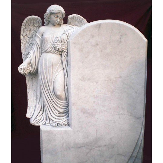 Памятник с Ангелом, опирающимся на стелу ts0440
