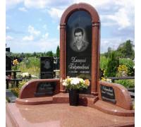Памятник комплекс из красного гранита ts0090