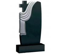 Памятник Волна с крестом и плащаницей ts0484