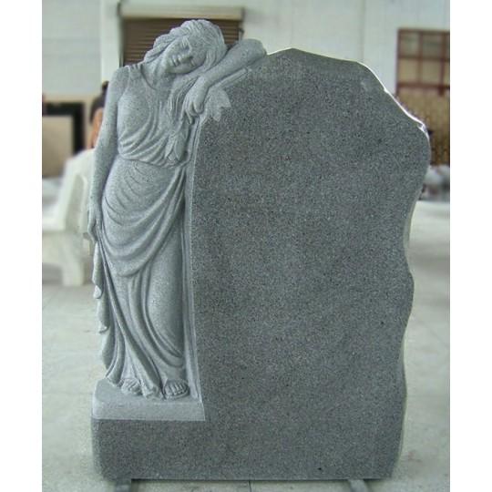 Памятник из серого гранита с Ангелом