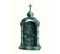 Элитный зеленый памятник в виде часовни ts0585