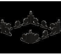 Фигурный цоколь из гранита с шарами ts0400