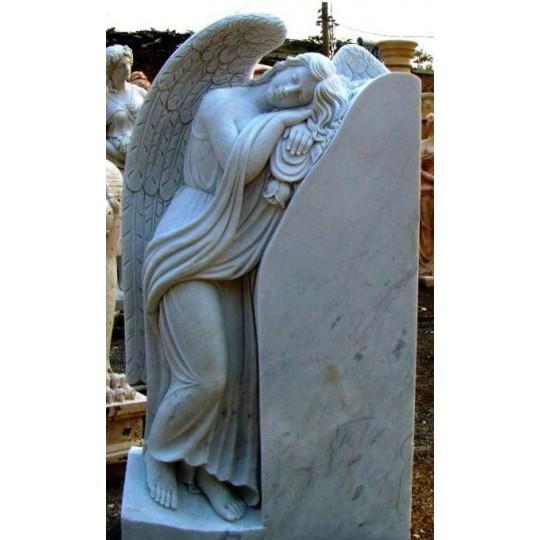 Памятник вертикальный со спящим Ангелом ts0434