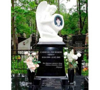 Памятник гранитный со скульптурой ангела ts0300