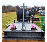 Памятник двойной с крестом ts0006