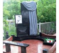 Памятник комплекс из черного гранита с плащаницей ts0124