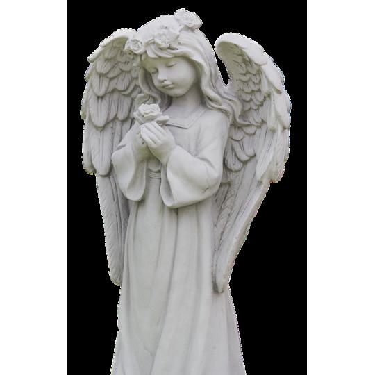 Статуя Ангела - девочки с цветком в руках ts0432
