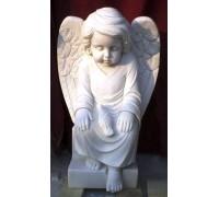 Скульптура спящего ангелочка с голубем ts0414