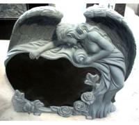 Памятник уставший Ангел с Сердцем ts0444