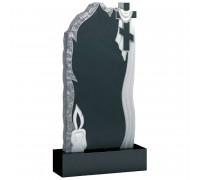 Памятник вертикальный Скала с крестом и свечой ts0361