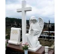 Памятник эксклюзивный с крестом и ангелом ts0350