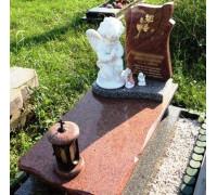 Памятник эксклюзивный с ангелом младенцу ts0262