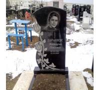 Ритуальное резное надгробие с розами на могилу ts0552