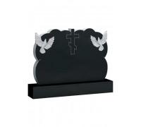 Семейный памятник с голубями и Крестом ts0379