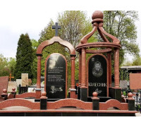 Эксклюзивный мемориальный комплекс с крестом и куполом ts0352