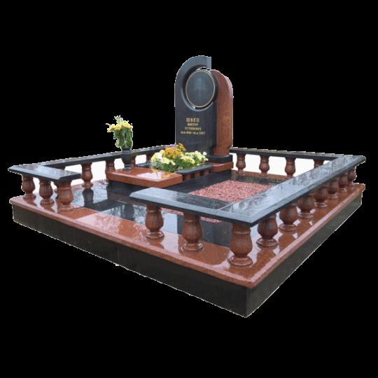 Мемориальный комплекс на могилу в 3D формате ts0520