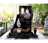 Памятник из гранита семейный с прорезной Свечой ts0369
