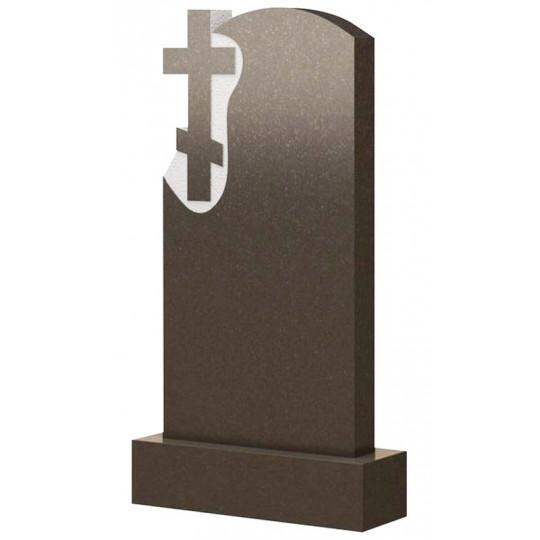 Вертикальный памятник с крестом ts0479