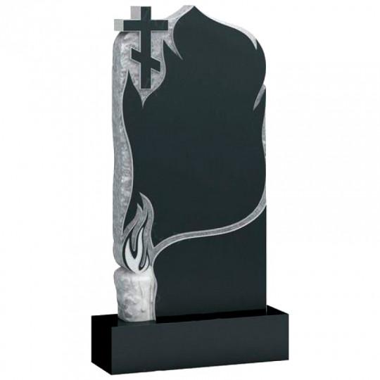 Памятник из гранита Скала с крестом и свечой ts0362