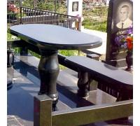 Стол и лавочка гранитные на кладбище ts0095