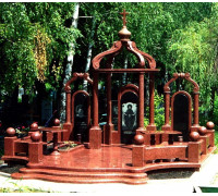 Эксклюзивный мемориальный комплекс из красного гранита ts0342