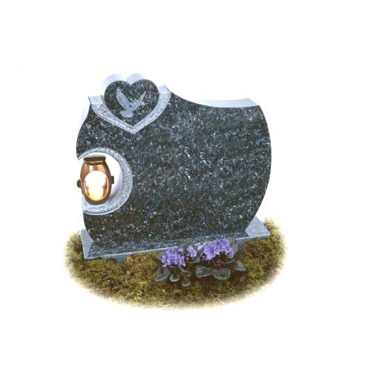 Памятник из серого гранита с Сердцем