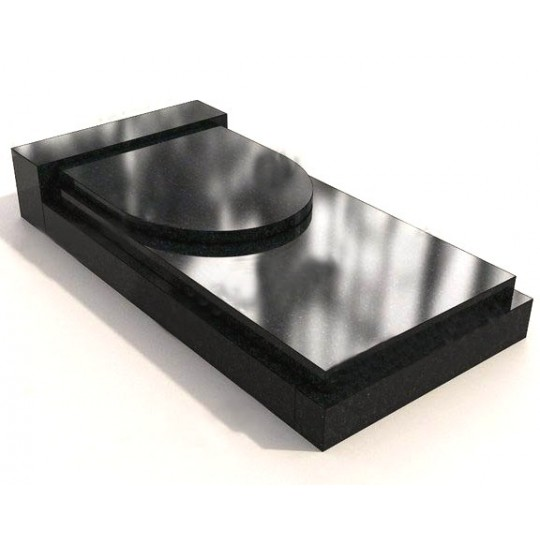 Прямоугольная двойная закрытая надгробная плита