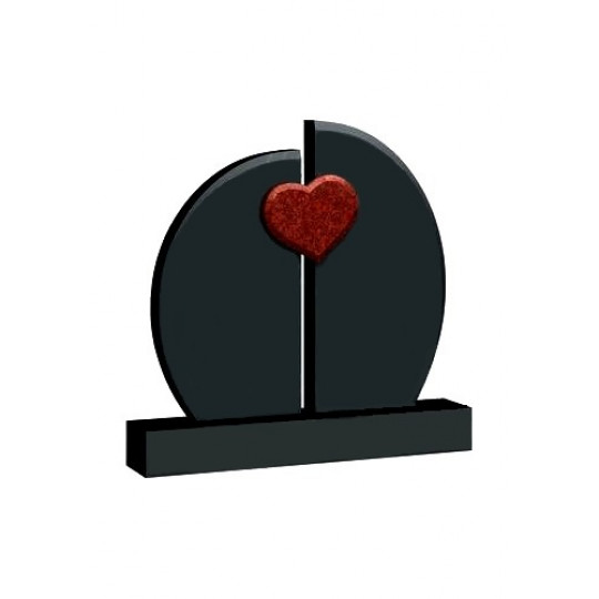 Семейный памятник Алое сердце ts0377