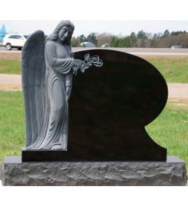 Памятник гранитный с ангелом ts0007